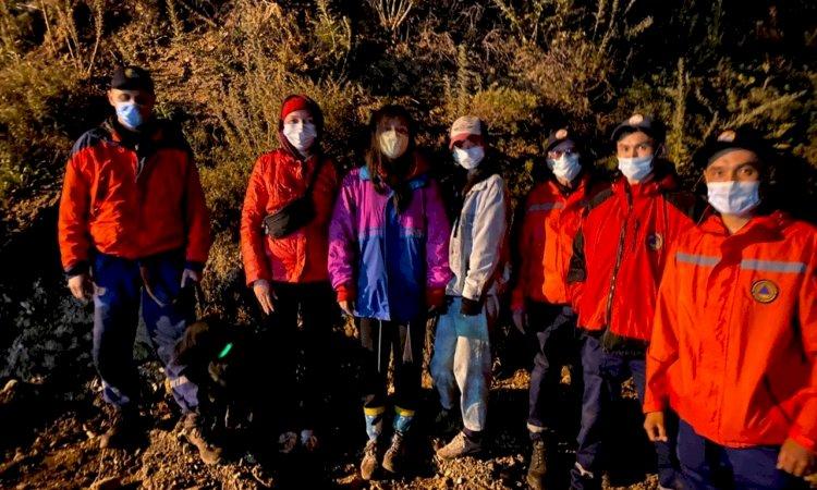В горах Алматы заблудились три девушки