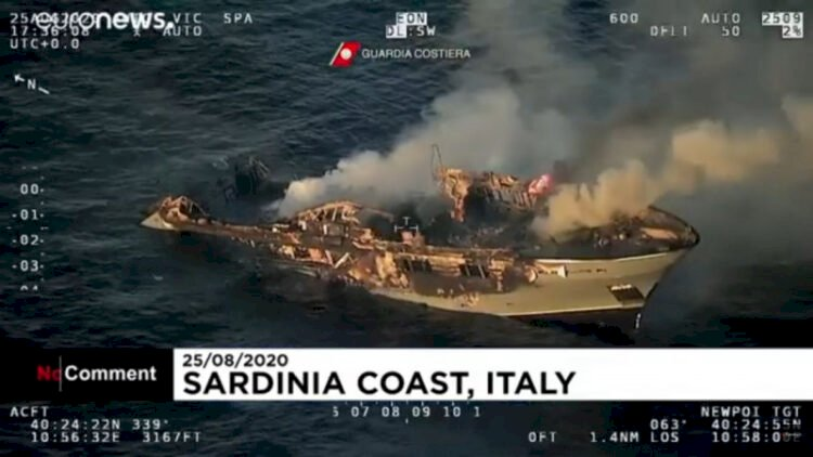 Яхта с гражданами Казахстана загорелась в Италии