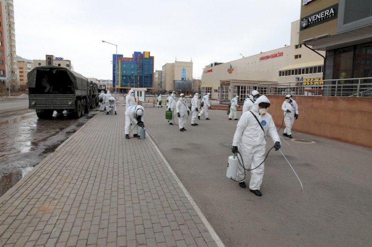 Дезинфекция подъездов в Алматы проводится трижды в неделю