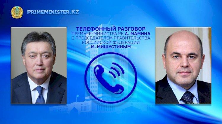 Взаимодействие в рамках ЕАЭС обсудил Мамин с российским коллегой