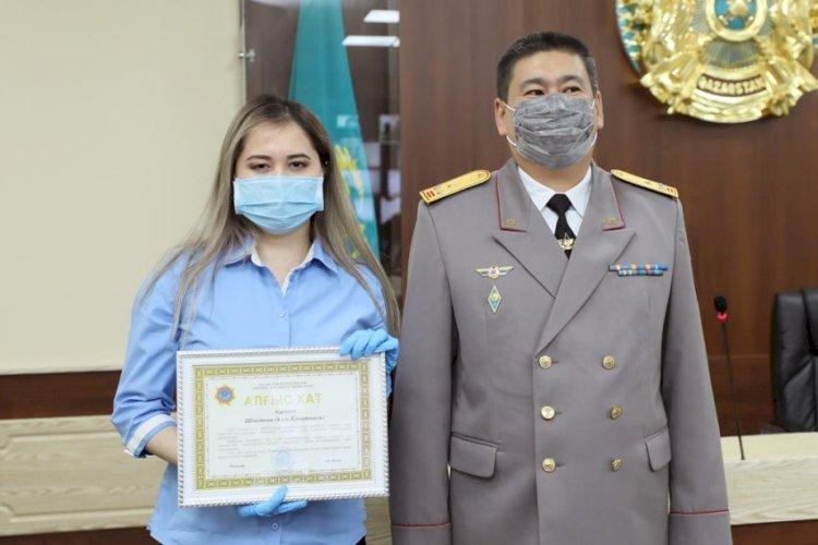 Отличившихся сотрудников наградили в ДЧС Алматы