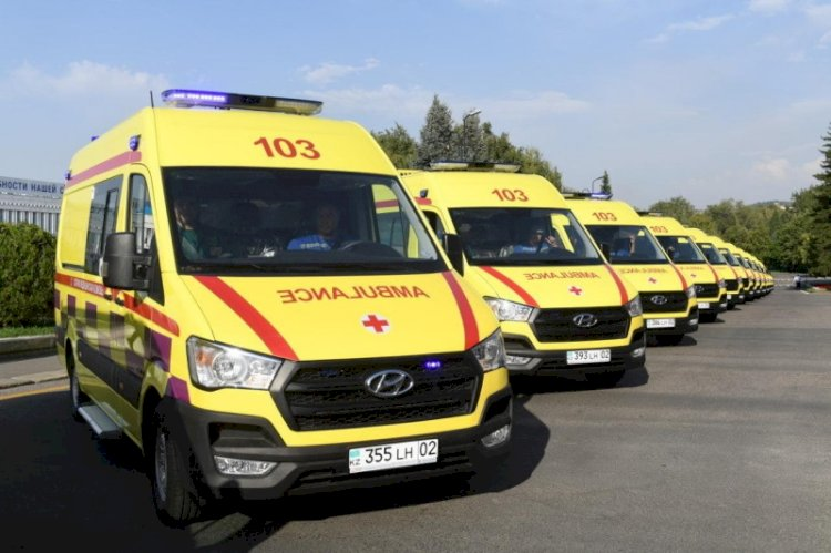 В Алматы автопарк службы скорой помощи обновлен на 70%