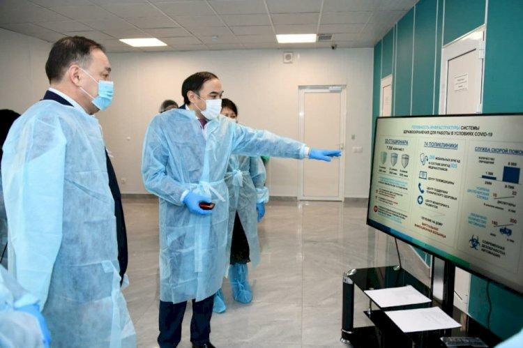 Ералы Тугжанов ознакомился с работой модульной инфекционной больницы в Алматы