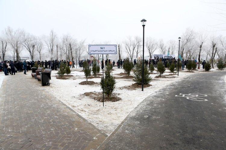 Новый парк «Желтоксан» в Алматы: на территории парка высажено 100 хвойных деревьев