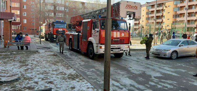 Пожар произошел в многоквартирном доме в Капшагае