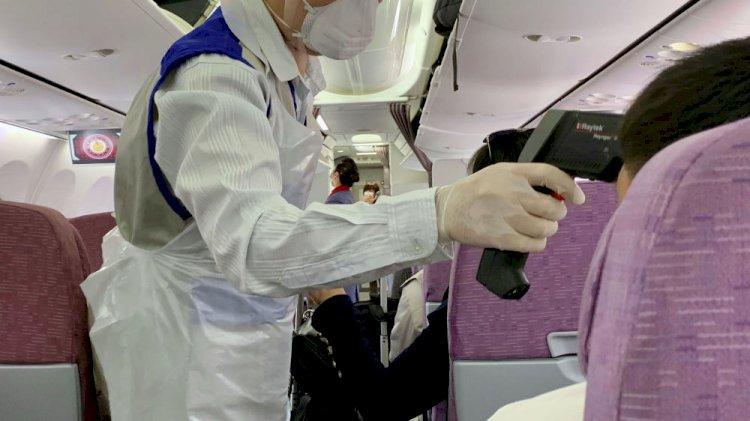 У четырех авиапассажиров, прибывших в РК, выявлен COVID-19
