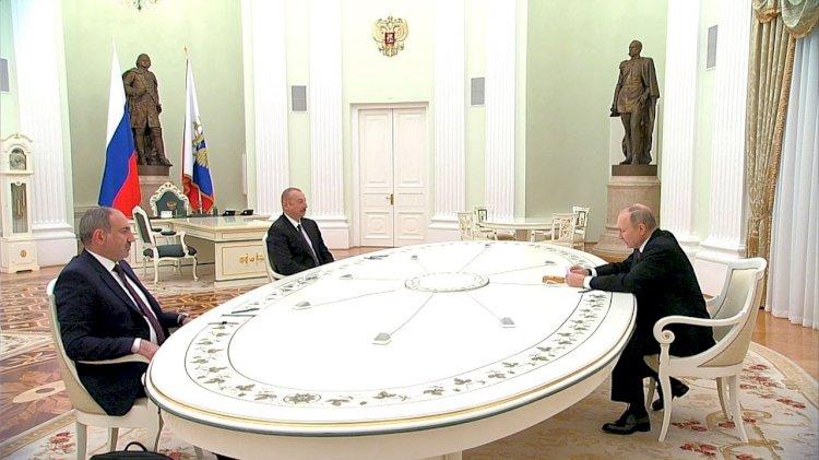 Совместное заявление о развитии Карабаха подписали Путин, Алиев и Пашинян