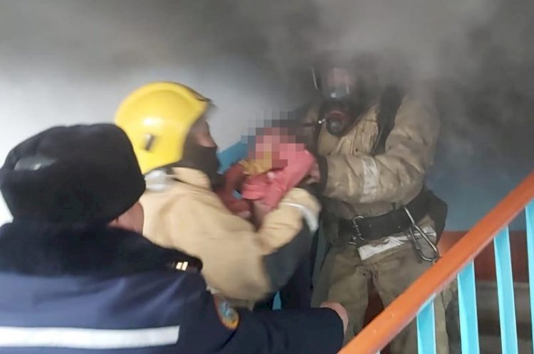 Пожарные Алматинской области спасли четырех человек