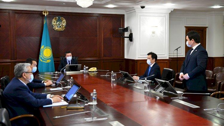 Аскар Мамин представил новых министров Миннацэкономики и Минтруда