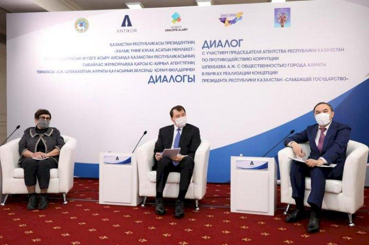 Алик Шпекбаев встретился с общественностью Алматы