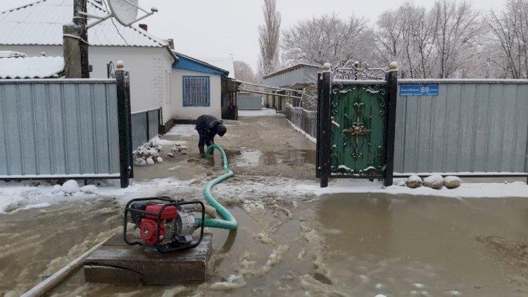 Три поселка подтопило в Алматинской области