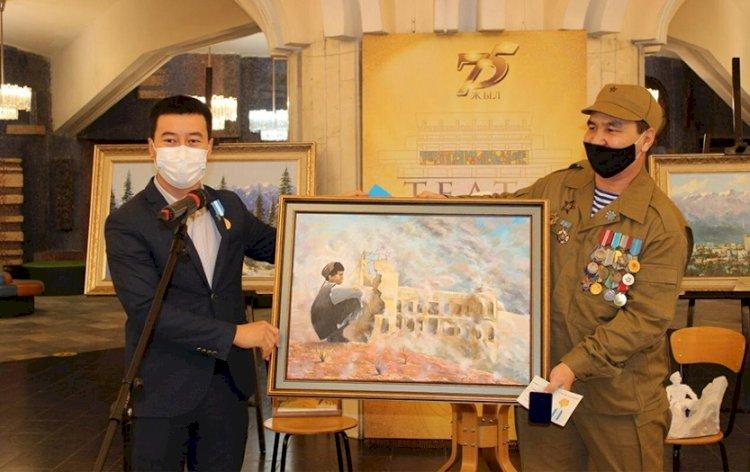 В Алматы открылась выставка картин, посвященная ветеранам Афганской войны