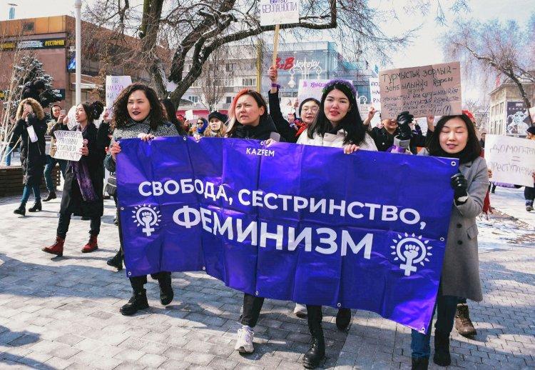В Алматы пройдет женский марш