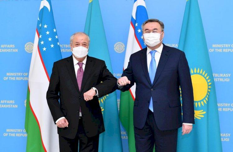 Мухтар Тлеуберди провел переговоры с главой МИД Узбекистана