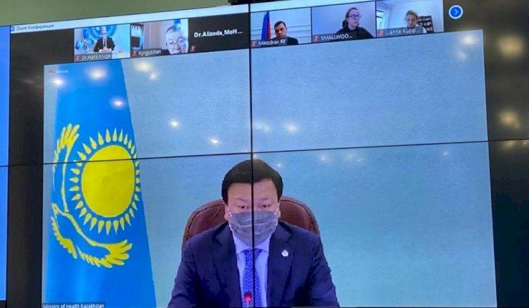 Министры здравоохранения стран Центральной Азии и России обсудили ситуацию с COVID-19