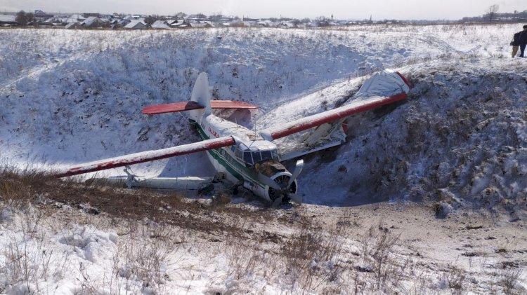 Самолет АН-2  приземлился в овраг в Алматинской области