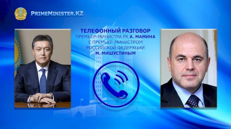 Аскар Мамин переговорил по телефону с Михаилом Мишустиным