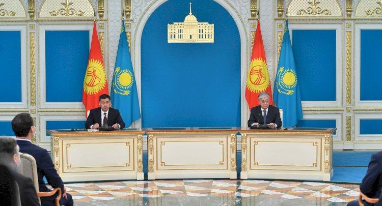 Совместный брифинг для представителей СМИ провели Президенты Казахстана и Кыргызстана