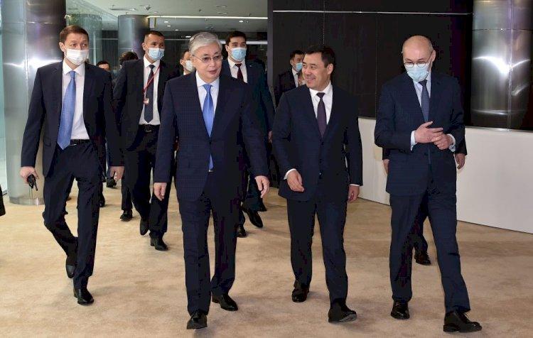Президенты Казахстана и Кыргызстана посетили Международный финансовый центр «Астана»