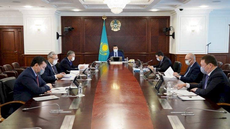 Аскар Мамин провел заседание Инвестиционного штаба