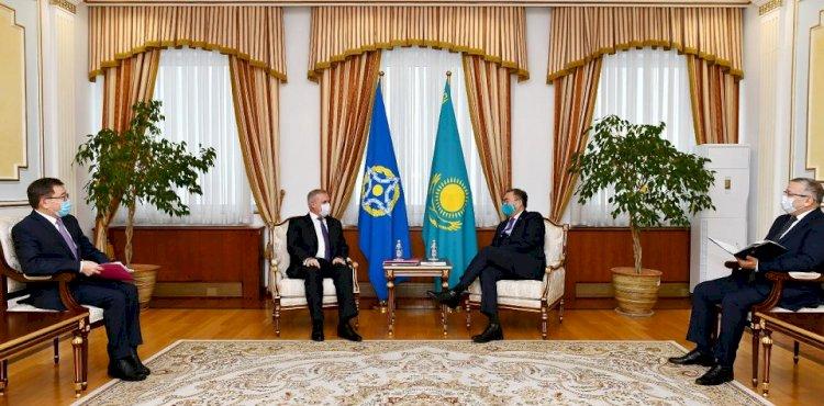 Глава МИД Казахстана встретился с Генсеком ОДКБ