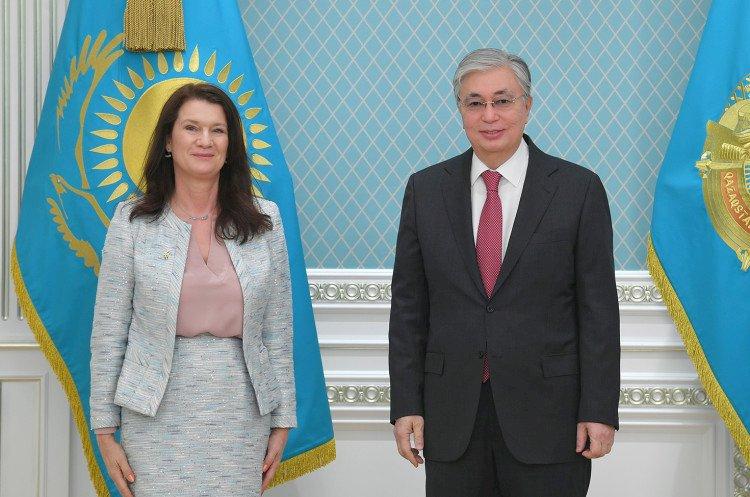 Президент Казахстана принял министра иностранных дел Швеции Анн Линде