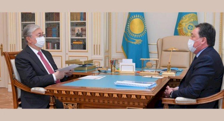 Аскар Мамин доложил Президенту об эпидемиологической ситуации в стране