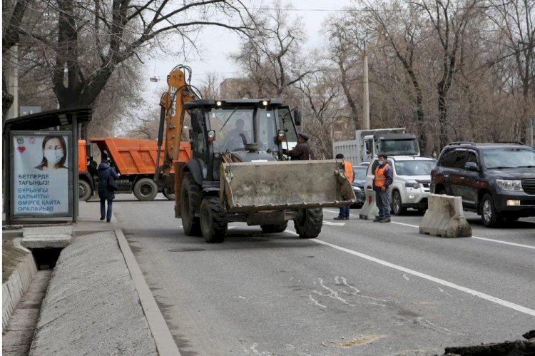 Работы по ремонту алматинских улиц – в самом разгаре