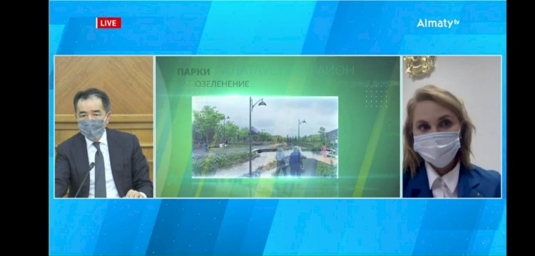 Бакытжан Сагинтаев презентовал горожанам планы по благоустройству и озеленению города