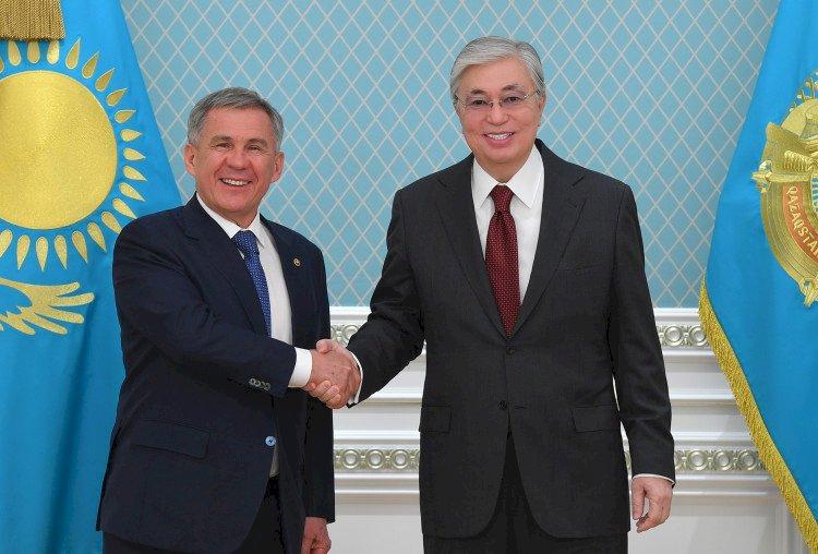 Касым-Жомарт Токаев встретился с Президентом Татарстана Рустамом Миннихановым
