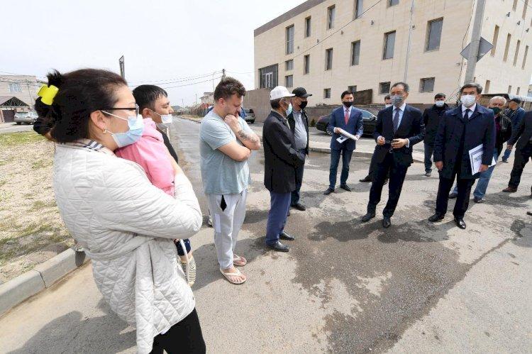 Бакытжан Сагинтаев проверил, как развивается социальная инфраструктура Алатауского района
