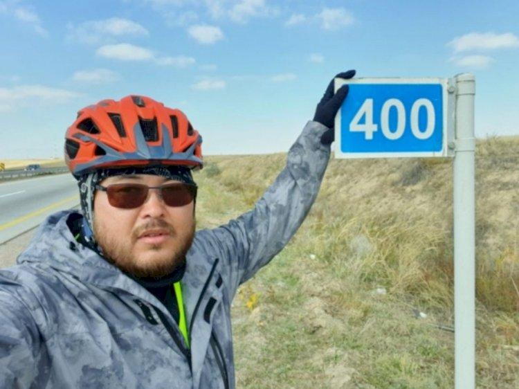 От Алматы до Турции проедет на велосипеде алматинец Дамир Кушеев