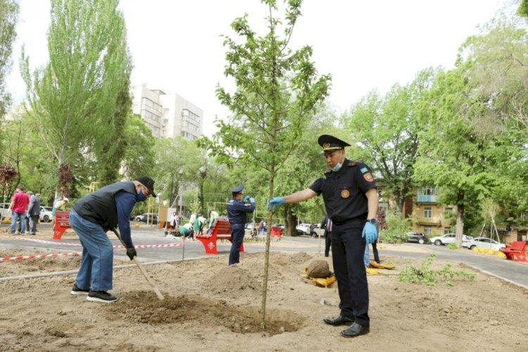Аллея спасателей ДЧС появилась в Алматы