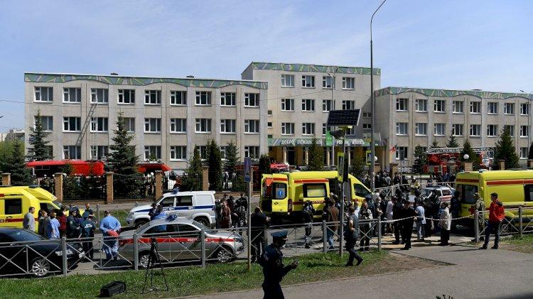 Двое вооруженных преступников устроили стрельбу в школе в Казани