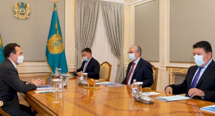 Глава государства принял председателя совета директоров группы KAZ Minerals Олега Новачука