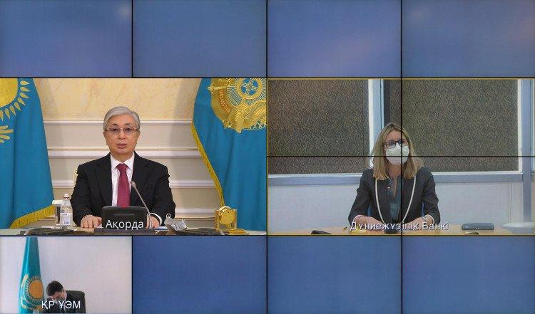 Касым-Жомарт Токаев провел беседу с вице-президентом Всемирного банка Анной Бьерде