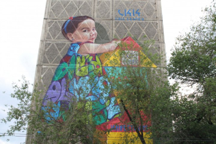 Новый 3D-мурал, призывающий к уплате налогов, появился в центре Алматы