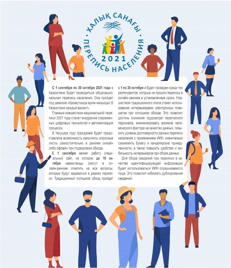 С 1 сентября по 30 октября в Казахстане будет проводиться перепись населения
