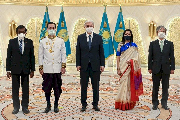 Президент Казахстана принял верительные грамоты у послов ряда стран