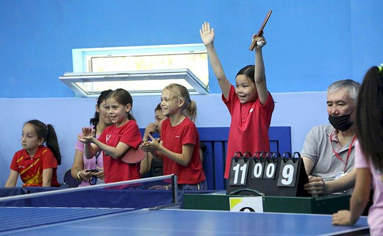 В Алматы прошел чемпионат по настольному теннису среди детей