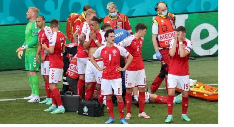 Игроку сборной Дании стало плохо во время матча на Евро-2020