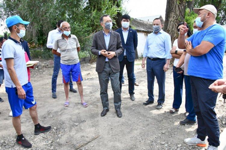 В Турксибском районе продолжается благоустройство территорий и развитие социальной инфраструктуры
