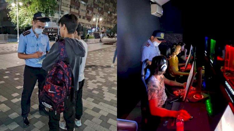 Около 300 подростков доставлены в полицию Алматы