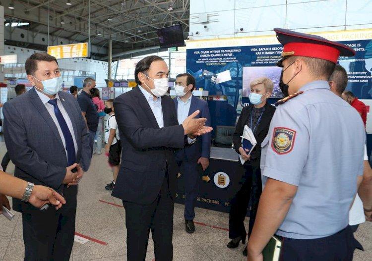 Акимат Алматы принимает меры по усилению контроля в международном аэропорту и на вокзалах города