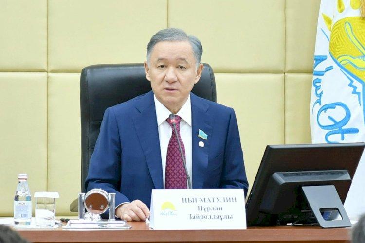 Нурлан Нигматулин обозначил приоритеты в работе депутатской фракции Nur Otan