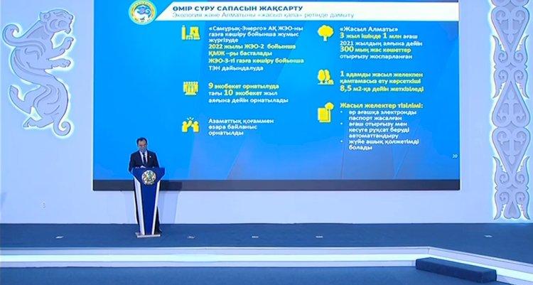 Пресс-конференция с участием акима Алматы Бакытжана Сагинтаева