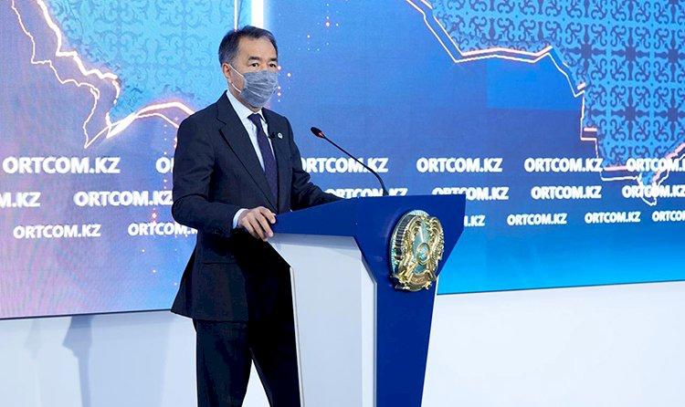 После выступления на площадке СЦК Бакытжан Сагинтаев ответил на вопросы журналистов