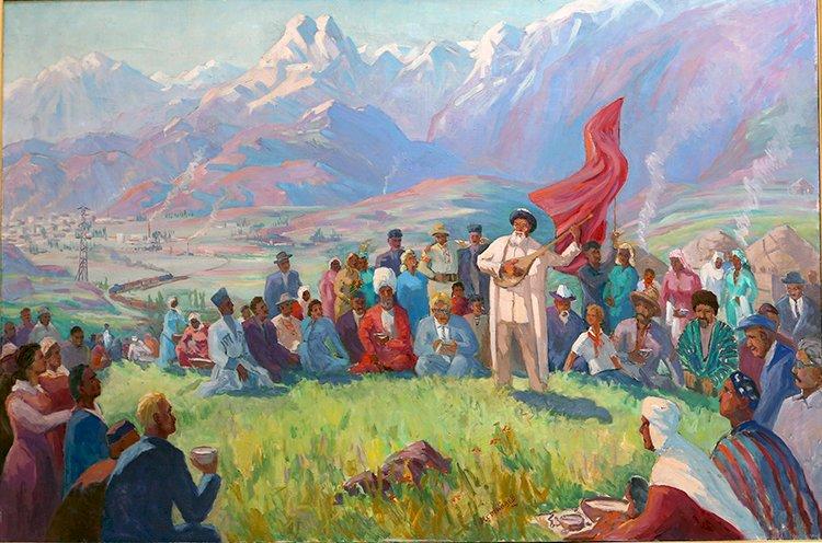 Государственный музей искусств имени Абылхана Кастеева посвятил экспозицию 175-летию Жамбыла