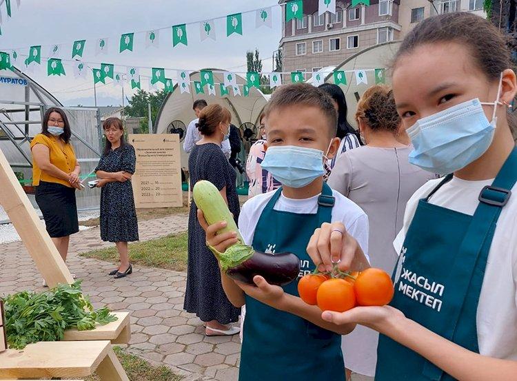 В Алматы стартовал уникальный проект «Зеленые школы»