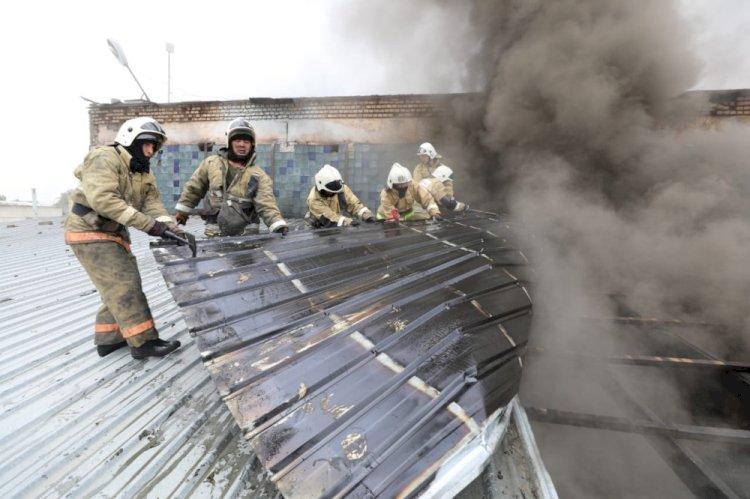 Сильный пожар произошел в Алматы